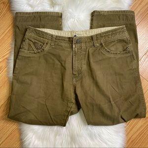 KUHL Easy Rydr Dark Khaki Casual Pants Size 38